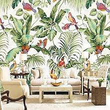 Photo Wallpaper 3D Flower Bird Leaf Plant Mural