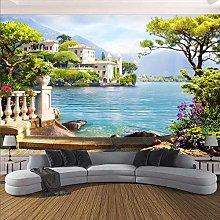 Photo Wallpaper 3D Garden Lake Scenery Murals