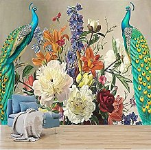Photo Wallpaper 3D Peacock Vintage Oil Painting