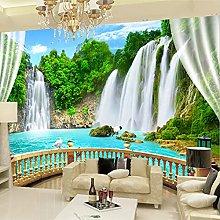 Photo Wallpaper 3D Stereo Waterfall Natural