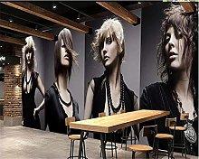 Photo Wallpaper 450x300 cm - 9 Strips Fashion Girl