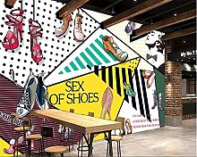 Photo Wallpaper 59x41inch - 3 StripsColored Shoes