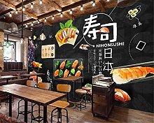 Photo Wallpaper 78.7x59inch - 3 StripsBlack Sushi