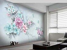 Photo Wallpaper 98.4x68.9inch - 3 StripsBlue