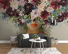 Photo Wallpaper 98.4x68.9inch - 3 StripsGirl with
