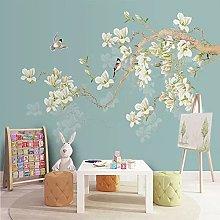 Photo Wallpaper Birds and Flowers 3D Mural Living