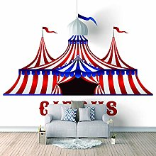 Photo Wallpaper Cartoon Circus Tent Effect Wall