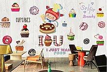 Photo Wallpaper Coffee Dessert Shop Mural