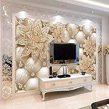 Photo Wallpaper European Style 3D Diamond Flower