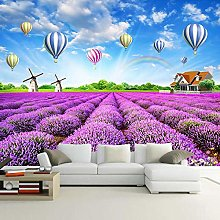 Photo Wallpaper for Bedroom Lavender Rainbow Hot