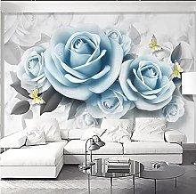 Photo Wallpaper for Bedroom Walls 3D Blue Rose