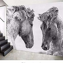 Photo Wallpaper for Living Room Horse 3D Large Tv