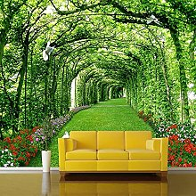 Photo Wallpaper for Walls 3 D Green Forest Tree