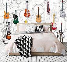 Photo Wallpaper Guitar KTV Bar 3D Wallpaper Wall