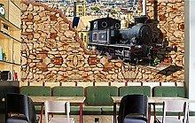 Photo Wallpaper Locomotive 3D Wallpaper Wall