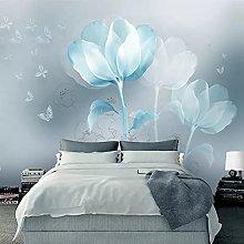 Photo Wallpaper Modern Abstract Transparent Flower
