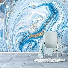 Photo Wallpaper Modern Blue Marble Landscape