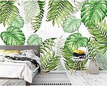 Photo Wallpaper Mural Modern Plant Leaf Wallpaper