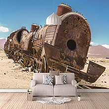 Photo Wallpaper Rusty Old steam Train 200x140cm