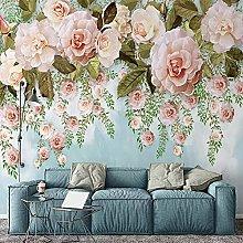 Photo Wallpaper Simple Oil Painting Flower Mural