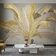 Photo Wallpaper Wall Painting 3D Golden Embossed