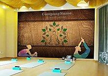 Photo Wallpaper Wooden Plank Yoga Studio Mural