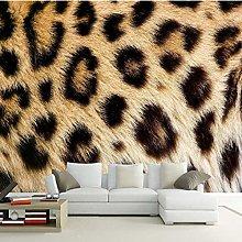 Photo Wallpaper Yellow Black Leopard Pattern