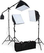 Photography lighting studio set - black