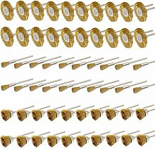 PHYHOO 3mm Brass Wire Brushes Cup Wheels Cleaning