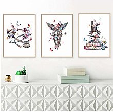 Physician Gift Watercolor Art Painting Canvas