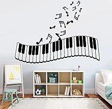 Piano Keys Wall Decal Musical Notes Door Window