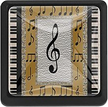 Piano Music Notes, 3 Pcs Crystal Class Cabinet