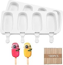 Piashow Ice lolly mould, ice mould silicone set,