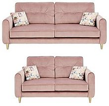 Picadilly Fabric 3 Seater + 2 Seater Sofa Set (Buy