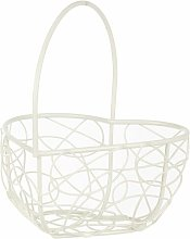Picardy Wire Mesh Heart Decorative Basket Lily