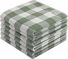 PiccoCasa 100% Cotton Dishcloths Set of 6, 13 x 13