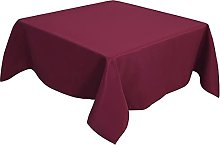 PiccoCasa Table Cover Square- Wrinkle Burgundy