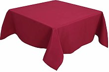 PiccoCasa Table Cover Square- Wrinkle Red