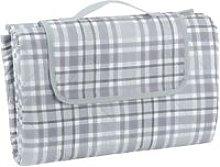 Picnic Blanket - Grey Check L