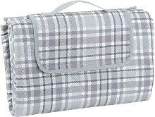 Picnic Blanket - Grey Check XL