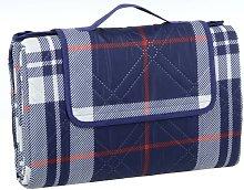 Picnic Blanket - Navy Check L