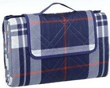 Picnic Blanket - Navy Check XXL