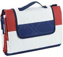 Picnic Blanket - Red / Blue Stripe L