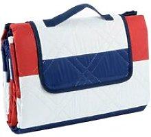 Picnic Blanket - Red / Blue Stripe XXL