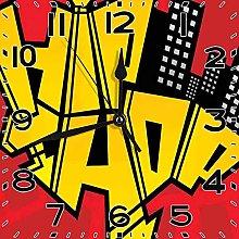 PICOM99 Square Clock Hip Hop Funky Graphic Hip Hop