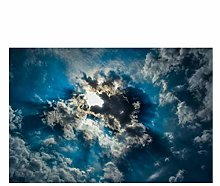 Picture - art on canvas nature Landscape Print Sky
