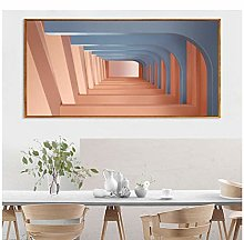 Picture -Canvas Wall Art Poster Pink Building