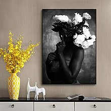 Picture print Cloth painting Black and White