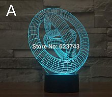 Piece 3D Holiday Decoration Lighting colorable