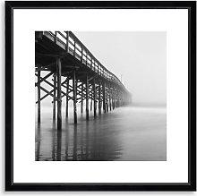 Pier 2 - Framed Print & Mount, 56 x 56cm,